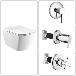 V&B O.Novo Wand-WC Kombipack mit QuickRelease SoftClose Deckel